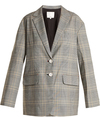 TIBI Jasper checked oversized blazer