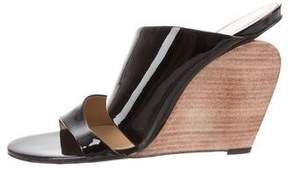 Roger Vivier Patent Leather Wedge Sandals