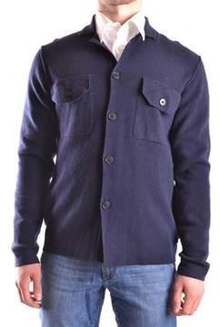 Peuterey Men's Blue Wool Cardigan.