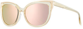 Barton Perreira Winette Cat-Eye Sunglasses, Champagne Gold/Lavender