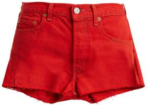 Levi's RE/DONE ORIGINALS X raw-hem denim shorts