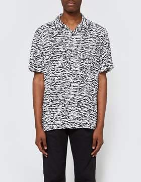 Obey Uproar Woven SS Shirt in Black Multi