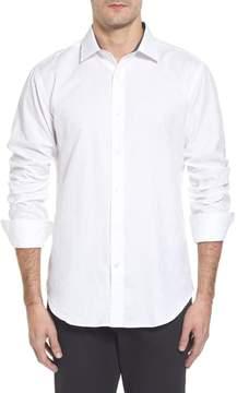 Bugatchi Men's Classic Fit Jacquard Sport Shirt