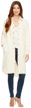 Brigitte Bailey Tess Button Up Long Denim Jacket Women's Coat
