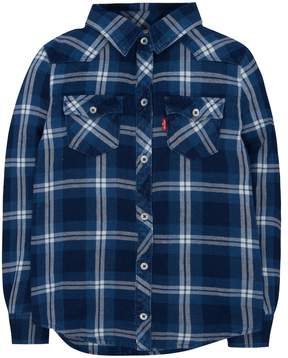 Levi's Girls 4-6x Western Plaid Shirt