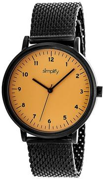 Simplify The 3200 Collection SIM3207 Unisex Watch with Mesh Bracelet-Style Band