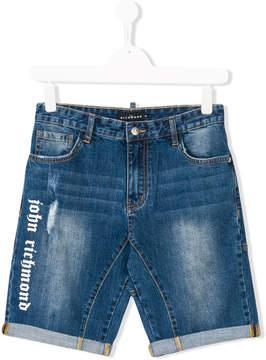 John Richmond Kids faded denim shorts