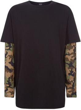 N°21 N 21 Long Sleeved Camouflage T-Shirt