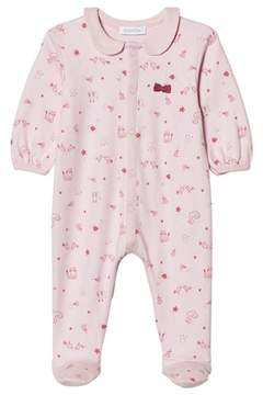 Absorba Pink Swan, Bird and Cat Collared Jersey Babygrow