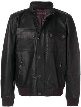 Michael Kors panelled biker jacket
