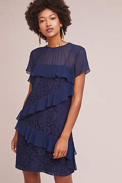 Donna Morgan Ruffled Lace Tunic Dress