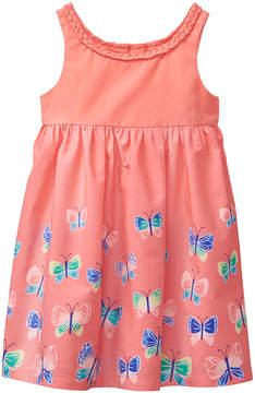 Gymboree Soft Coral & Peach Pink Butterfly Dress - Newborn & Infant