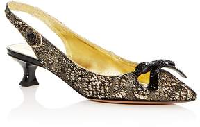 Marc Jacobs Women's Abbey Embellished Pointed Toe Slingback Pumps
