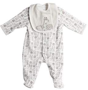 Little Me Newborn Boys Footie Coveralls and Bib - Smart Value