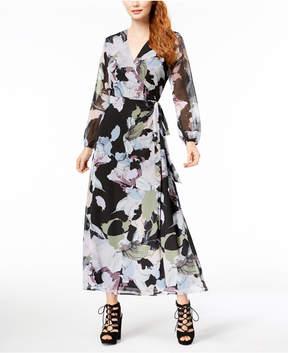 Bar III Floral-Print Maxi Wrap Dress, Created for Macy's