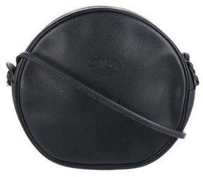 Longchamp Leather Crossbody Bag - BLUE - STYLE