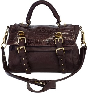 CC Skye Brown Pebbled Leather Upper East Side Satchel