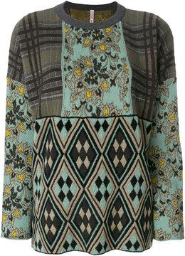 Antonio Marras contrast panel knitted top