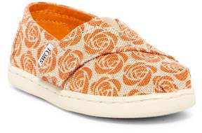 Toms Alpargata Rose Burlap Slip-On Flat (Baby, Toddler, & Little Kid)