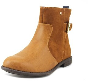 Tommy Hilfiger Andrea Short Youth Round Toe Synthetic Brown Ankle Boot.
