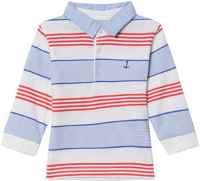 Mayoral Blue and Red Multi Stripe Jersey Polo