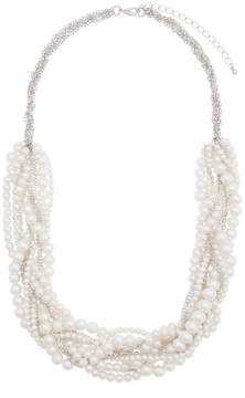 ELOQUII Pearl Braided Statement Necklace