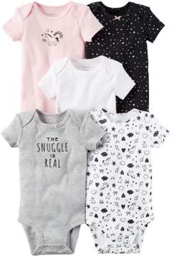 Carter's Baby Girls 5-pk. Snuggle Bodysuits