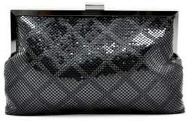 La Regale Diamond Pattern Mesh Pouch Clutch