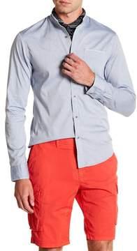 Scotch & Soda Regular Fit Frayed Long Sleeve Shirt