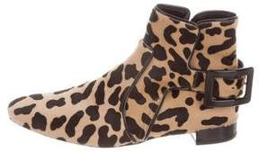Roger Vivier Animal Print Ankle Boots