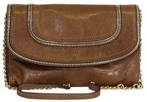 Michael Kors Brown Zipper Clutch - BROWN - STYLE