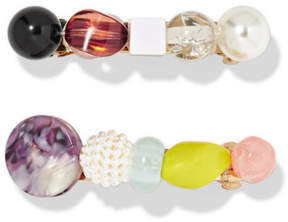 Lulu Valet Lulu Set Of Two Resin Hairclips