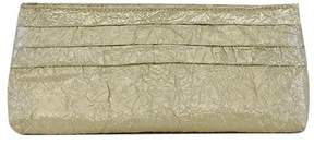 Lauren Merkin Gold Metallic Crinkle Clutch