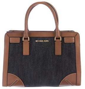 MICHAEL Michael Kors Leather-Trimmed Dillon Tote - BLUE - STYLE