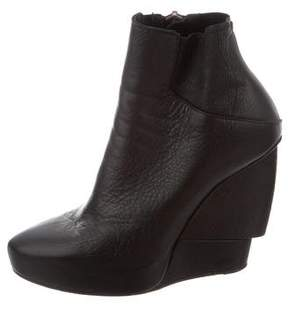 Helmut Lang Wedge Ankle Boots