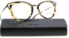 Prada New Eyeglasses Women VPR 53U Havana 7S0-1O1 VPR53UV 52mm