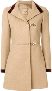 Fay contrast collar and cuff coat