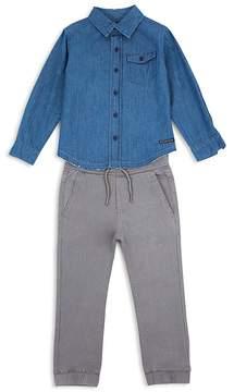 Hudson Boys' Denim Button-Down & Jogger Pants Set - Baby