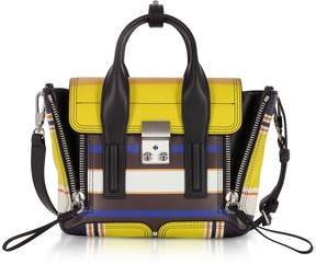 3.1 Phillip Lim Multi Chartreuse Leather Pashli Mini Satchel Bag