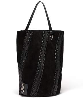 Proenza Schouler Hex Large Suede Bucket Bag - Womens - Black