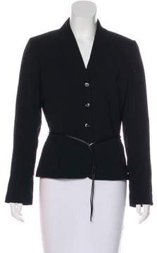 Tahari Striped Button-Up Blazer