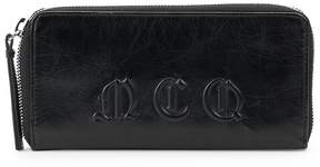 McQ Women's Logo Leather Zip-Around Wallet