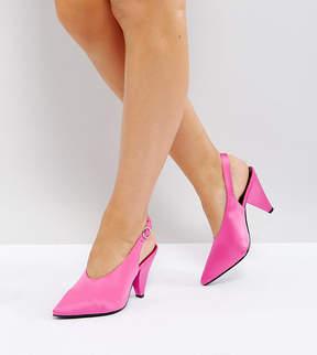 New Look Wide Fit High Vamp Cone Heel Shoe