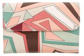 Emilio Pucci Printed Patent Leather Wallet