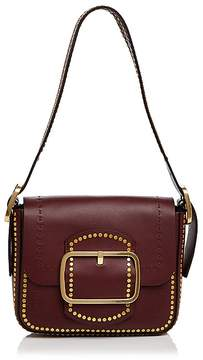 Tory Burch Sawyer Stud Small Leather Shoulder Bag - PORT/GOLD - STYLE
