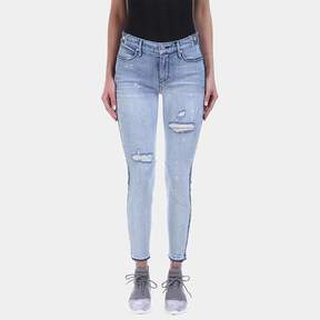 RtA Gypsy Two-Tone Ripped Skinny Jean in Vintage Blue