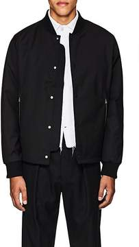 Officine Generale Men's Wool-Blend Tech-Piqué Bomber Jacket
