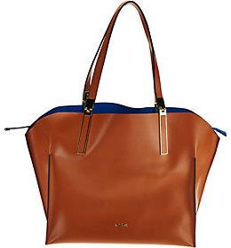 Lodis Italian Leather RFID Shoulder Bag w/ Zip Pouch