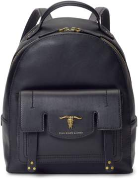 Polo Ralph Lauren Steer-Head Leather Backpack