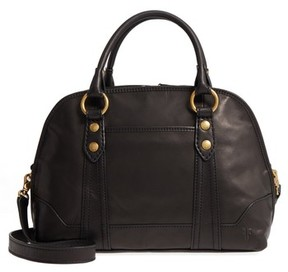 Frye Melissa Domed Leather Satchel - Black